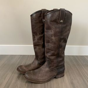 Frye Shoes - Frye Melissa Button Boots Size 8 M Slate